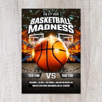 Basketball madness flyer vorlage