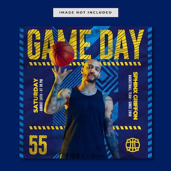 Basketball-spieltag social-media-instagram-vorlage
