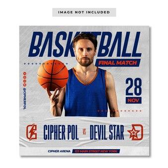 Basketball-sport-finalspiel social-media-instagram-post