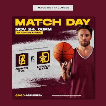 Basketball-sportereignis-match-instagram-vorlage