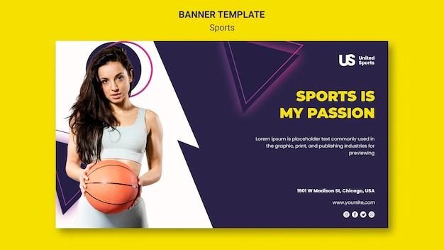 Basketball turnier banner vorlage