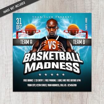 Basketball-verrücktheits-flyer
