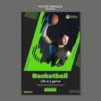 Basketballplakatschablone