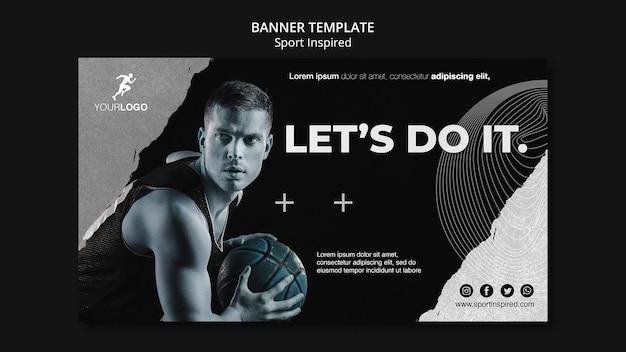 Basketballtraining banner vorlage