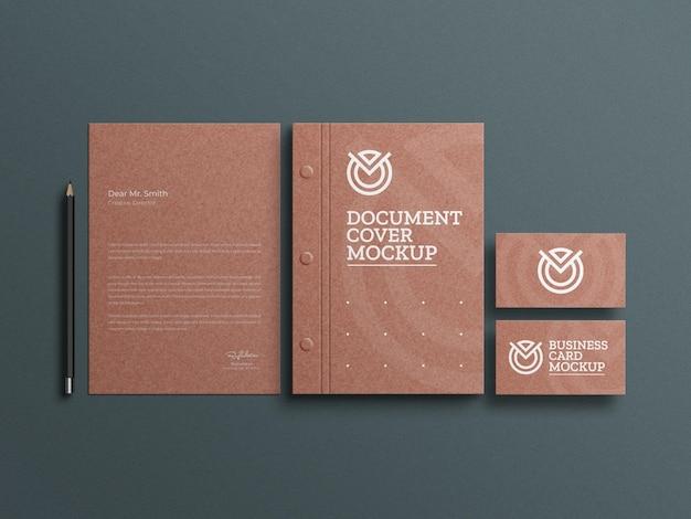 Basteln sie briefpapier aus papier mit dokumenten-briefpapier-modell