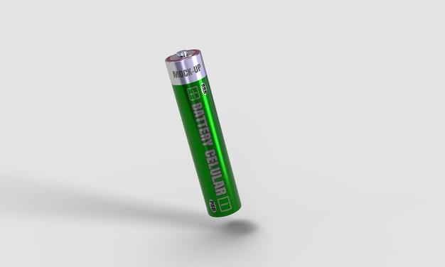 Batterie zellulares aaa-modell 3d rendern für produktdesign