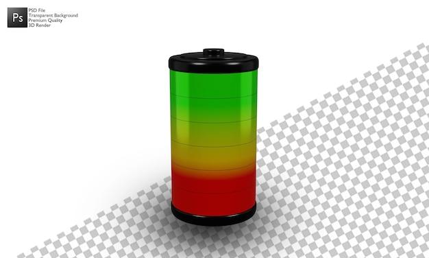 Batterieabbildung 3d-design