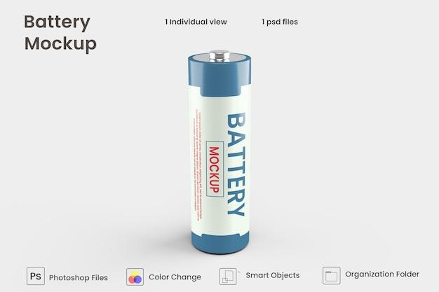 Batteriezellmodell in 3d-rendering für das produktdesign