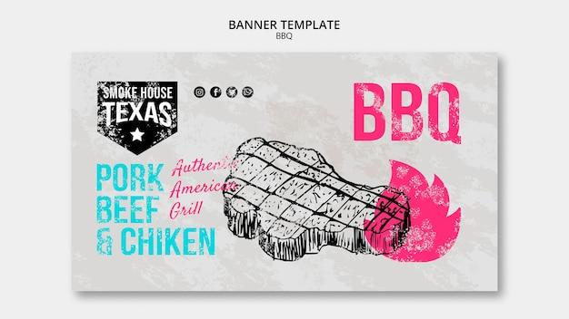 Bbq banner vorlage mit steak