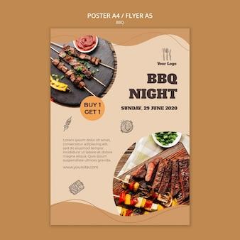 Bbq konzept flyer vorlage