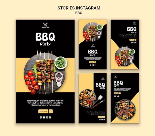 Bbq party instagram geschichten
