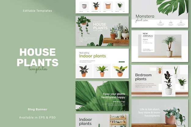Bearbeitbare floristen-psd-vorlagen für soziale medien