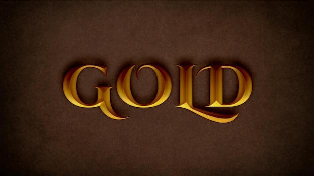Bearbeitbare goldene texteffekt-psd-vorlage