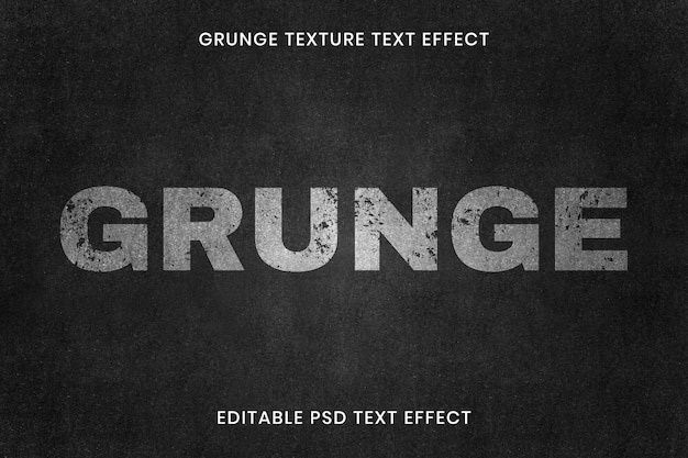 Bearbeitbare grunge-texteffekt-psd-vorlage