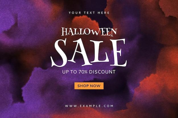Bearbeitbare halloween-website-verkaufs-banner-vorlage