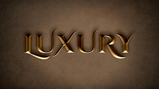 Bearbeitbare luxus-texteffekt-psd-vorlage