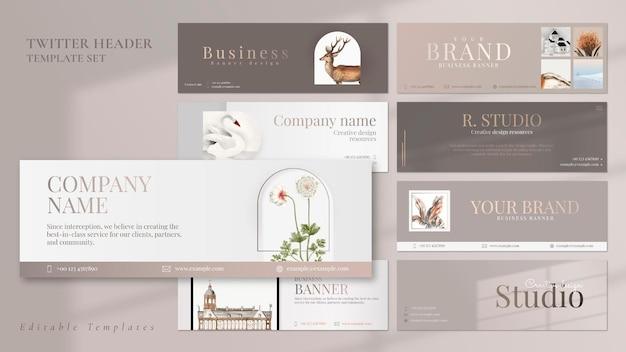 Bearbeitbare psd-vorlage für business-banner mit laptop/fotorahmen/fenster-schatten-set/
