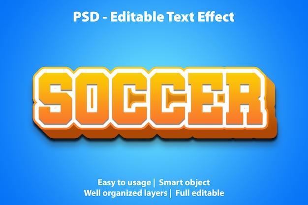 Bearbeitbare texteffekt-fußballvorlage