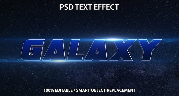 Bearbeitbare texteffekt-galaxie
