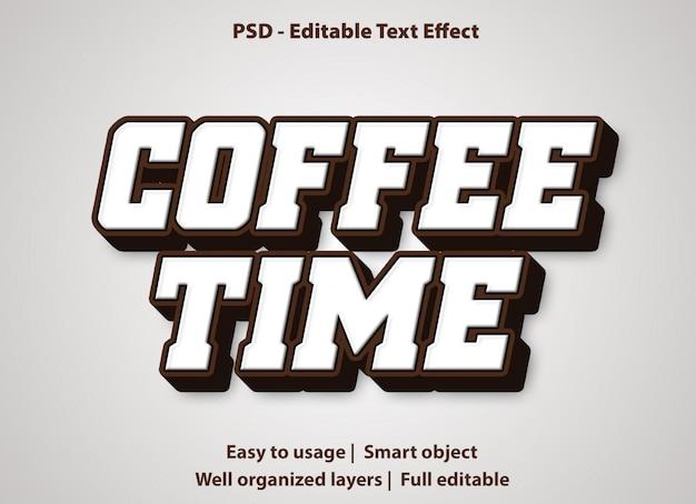 Bearbeitbare texteffekt-kaffeezeit