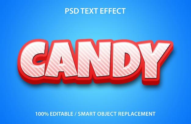 Bearbeitbare texteffekt-süßigkeit
