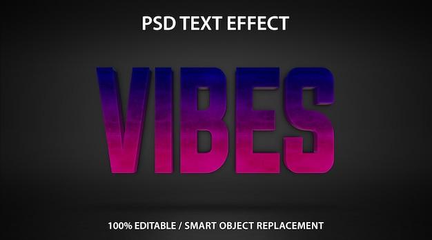 Bearbeitbare texteffekt-vibes