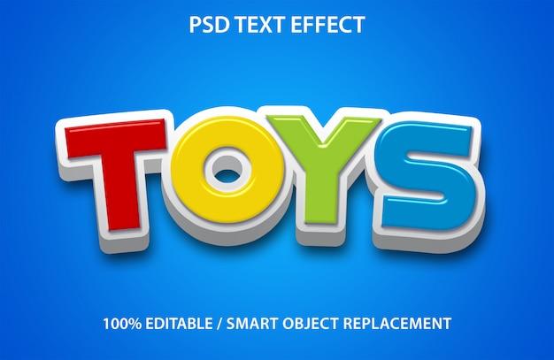 Bearbeitbare texteffektspielzeuge