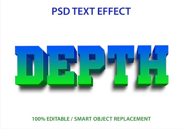 Bearbeitbare texteffekttiefe
