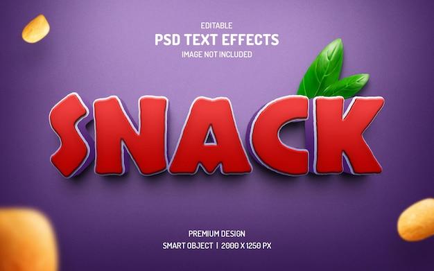 Bearbeitbare textstileffekte für snacks