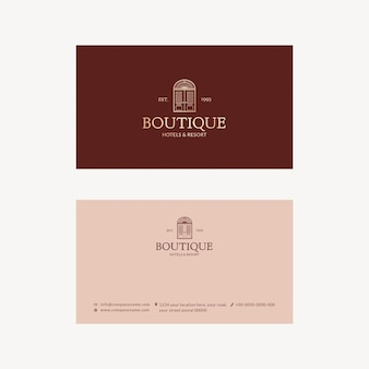 Bearbeitbare visitenkartenvorlage psd corporate identity design