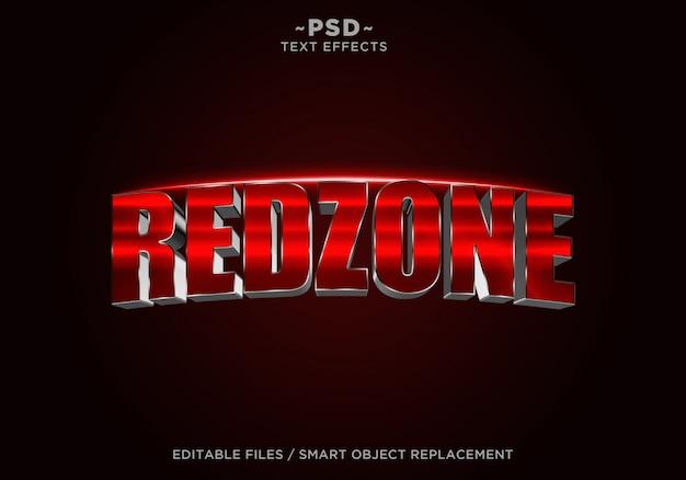 Bearbeitbarer text für den 3d-redzone-filmeffekt