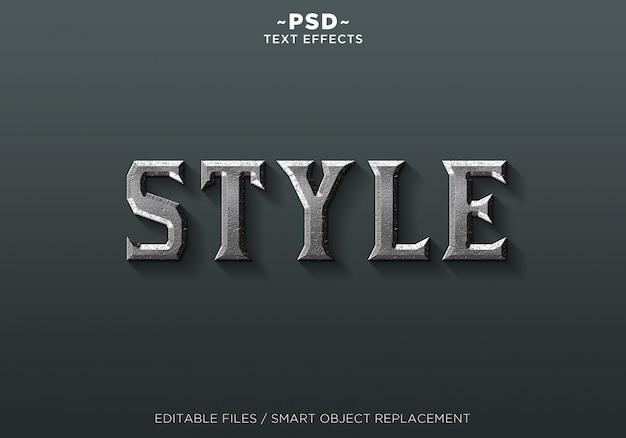 Bearbeitbarer text für metal style-effekte