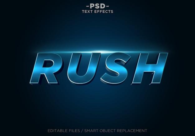 Bearbeitbarer text für rush blue-effekte