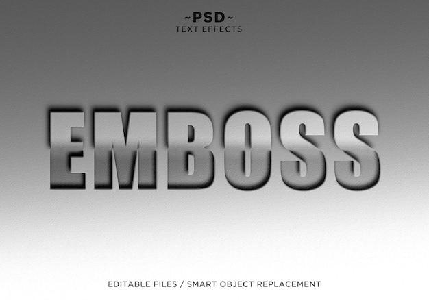 Bearbeitbarer text mit geschnitzten effekten Premium PSD