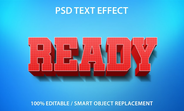 Bearbeitbarer texteffekt bereit