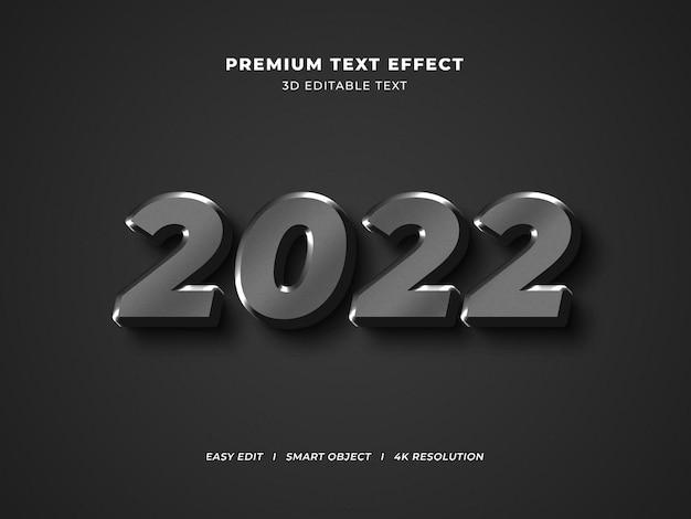 Bearbeitbarer texteffekt für metallic-neujahr