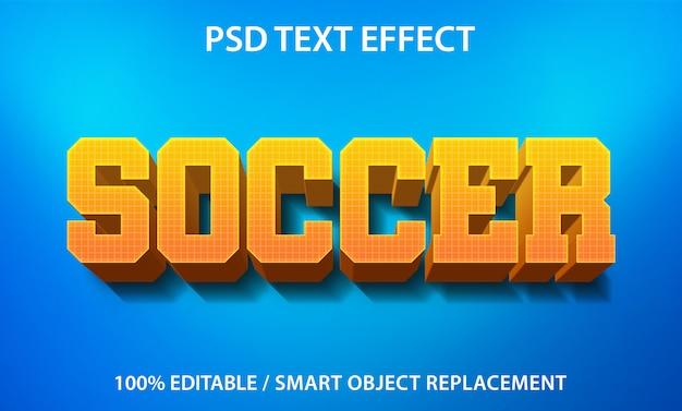 Bearbeitbarer texteffekt fußball