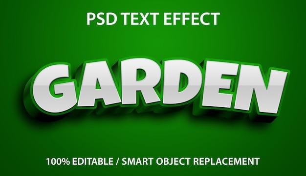 Bearbeitbarer texteffekt grüner garten