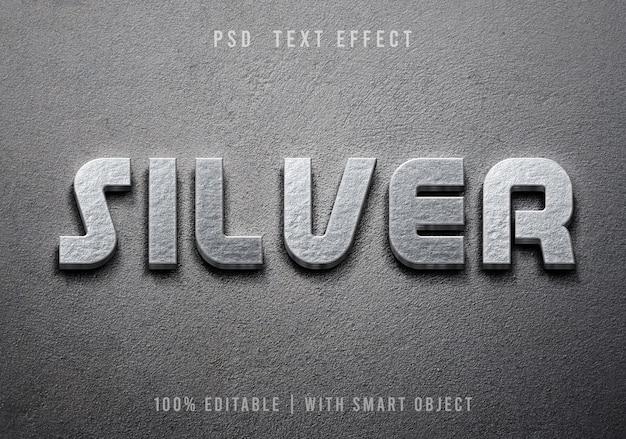 Bearbeitbarer texteffekt im metallstil
