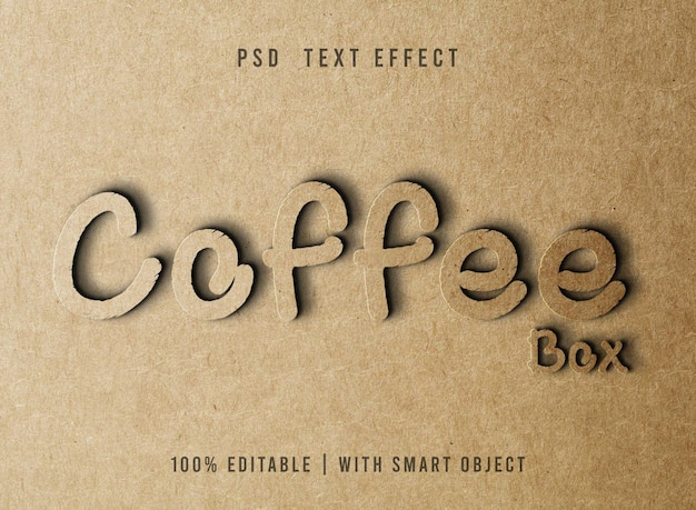 Bearbeitbarer texteffekt im papierstil