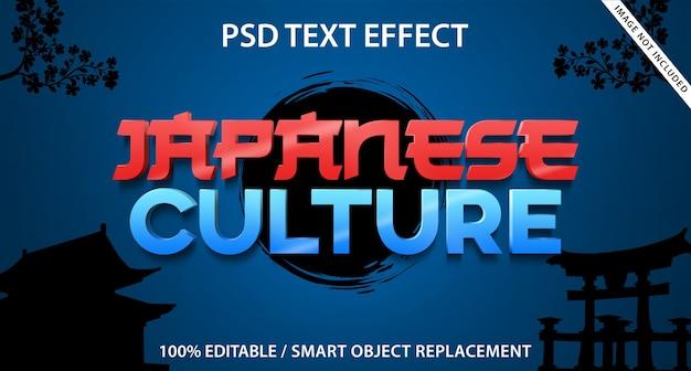 Bearbeitbarer texteffekt japanische kultur