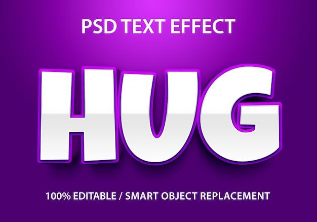 Bearbeitbarer texteffekt lila umarmung