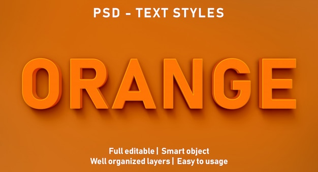 Bearbeitbarer texteffekt orange