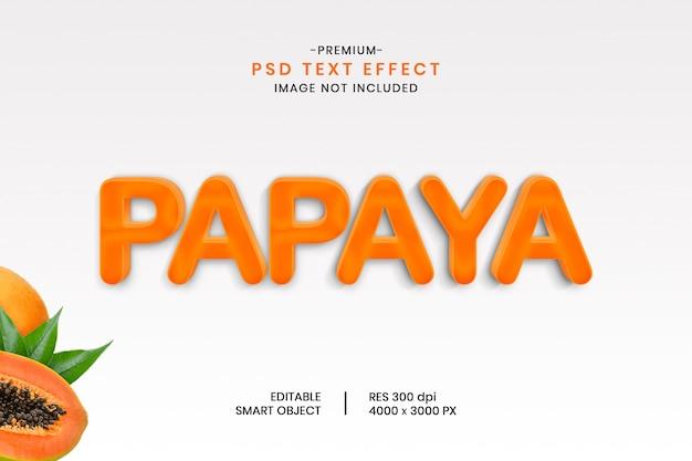 Bearbeitbarer texteffekt papaya 3d