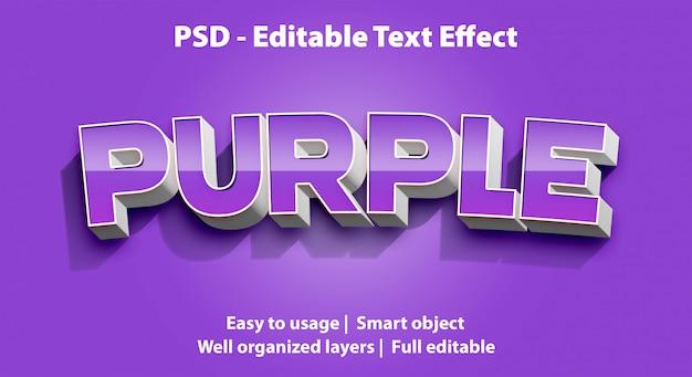 Bearbeitbarer texteffekt purple premium