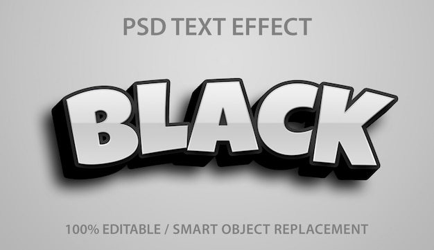 Bearbeitbarer texteffekt schwarz