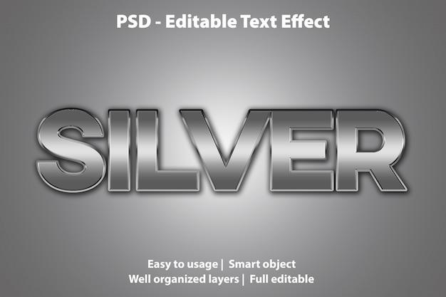 Bearbeitbarer texteffekt silber