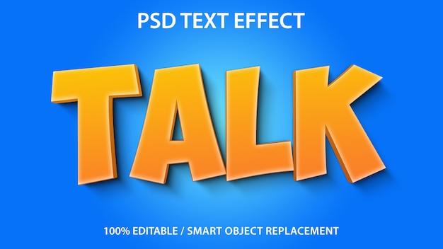 Bearbeitbarer texteffekt talk