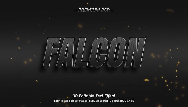 Bearbeitbarer texteffekt von 3d falcon