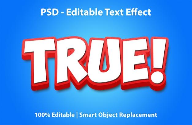 Bearbeitbarer texteffekt wahr